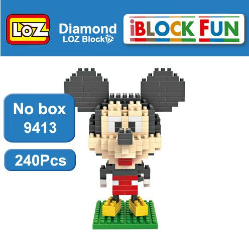 LOZ Building Blocks Mickey and Minnie Superman Batman Magician Diver Captain America Toys Middle Size 9+ Gift - SaturnLoop Shops Sales