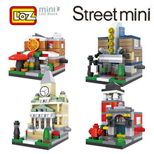 Load image into Gallery viewer, LOZ Mini Street Town Hall Pizza Shop Fire Department Theater Mini Building Blocks - SaturnLoop Shops Sales