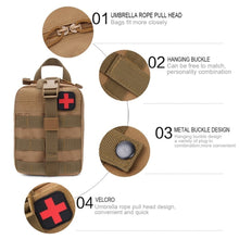 Load image into Gallery viewer, Outdoor Tactical Medical Bag Travel First Aid Kit Multifunctional Waist Pack Camping Climbing Bag Emergency Case Survival Kit