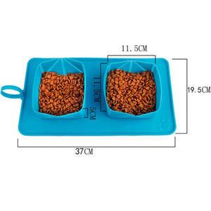 Pet bowl silicone folding bowl - SaturnLoop Shops Sales