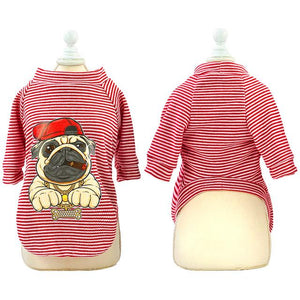 Cute Dog Clothes For Small Dogs Cats Pug French Bulldog Chihuahua Cotton Pet Clothes Puppy Shirt Summer Dog Vest T-shirts S-2XL - SaturnLoop Shops Sales