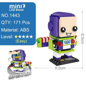 LOZ Toy Story Buzz Light year Woody Toys Model Mini Building Blocks Brick Heads Action Figure For Age 6+ - SaturnLoop Shops Sales