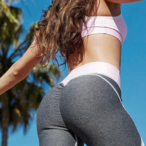 Women Solid Patchwork Training Gym Legging Running Fitness Leggings Waist Breathable Yoga Elastic Sport Pants High Leggings - SaturnLoop Shops Sales