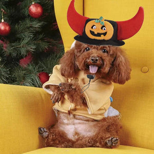 Halloween Pet Dog Cat Cute Santa Snowman Bat Head Elk Horn Headdress Hat Cap - SaturnLoop Shops Sales