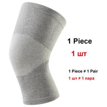 Load image into Gallery viewer, 1 Pcs Knee Support Protector Leg Arthritis Injury Gym Sleeve Elasticated Bandage knee Pad Charcoal Knitted Kneepads Warm - SaturnLoop Shops Sales