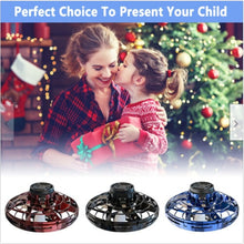 Load image into Gallery viewer, Flynova Athletic antistress hand mini flying toy Gyro rotator drone UFO led fidget finger spinner Rotary child christmas gift