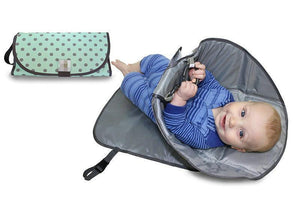 3 in 1 Diaper Clutch Changing Station and Diaper-Time Playmat With Redirection Barrier  Camera bag - SaturnLoop Shops Sales