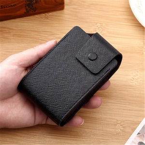 Multi-Function Pocket Storage Bag Organizer Mini Card Wallet Holder For Mens Womens PU Leather Coin Purse Bag 10 Card Slots - SaturnLoop Shops Sales