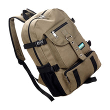 Load image into Gallery viewer, Arcuate shoulder strap zipper casual bag backpack school bag canvas bag for men - SaturnLoop Shops Sales