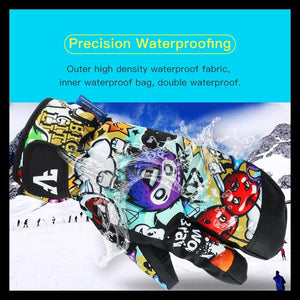 Men Women Kids Winter Warm Snowboarding Ski Gloves Snow Mittens Waterproof Cycling Skiing Snowmobile Handschoemen S M L XL - SaturnLoop Shops Sales