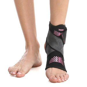 1pc Sport Ankle Brace Protector Adjustable Anti-sprain Compression Feet Support Wrap Bandage Protection With Strap - SaturnLoop Shops Sales