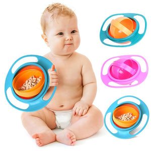Baby Feeding Dish Cute Baby Gyro Bowl Universal 360 Rotate Spill-Proof Bowl Baby Food Feeding Boxes - SaturnLoop Shops Sales