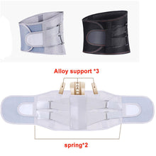 Load image into Gallery viewer, Orthopedic Tourmaline Self-heating Magnetic Steel Bone Waist Widen Belt Men Women Lumbar Support Back Brace Belt With 3pcs Pad - SaturnLoop Shops Sales