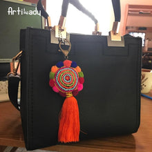 Load image into Gallery viewer, Artilady bohemia pom tassel keychain bag charm - SaturnLoop Shops Sales