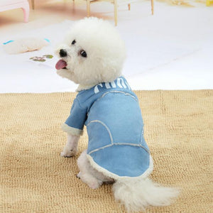 Cute Dog Jacket Winter Warm Puppy Dog Clothes Thickening Fleece Pet Outfits Coat For Small Dogs Chihuahua Bichon Pets Clothing - SaturnLoop Shops Sales