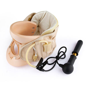 Inflatable Cervical Neck Traction Device Soft Medical Orthopedic Neck Pillow Pain Release Collar Neck Stretching Brace - SaturnLoop Shops Sales