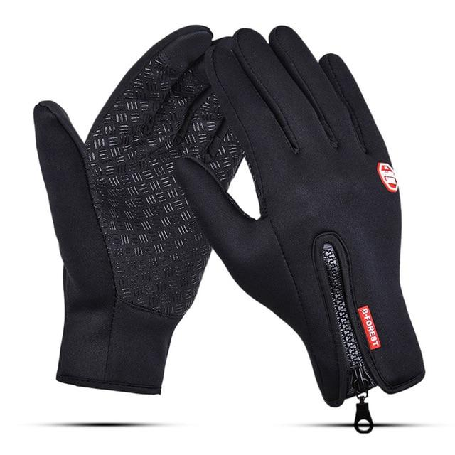 Touch Screen Windproof Outdoor Sport Gloves,Men Women Winter Fleece Thermal Warm Running Gloves,Anti-slip Cycling Gloves - SaturnLoop Shops Sales