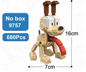 LOZ Garfield Odie Orange Cat Dog Cartoon Character of American Building Diamond Blocks Figure Toy For Age 14+ - SaturnLoop Shops Sales