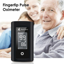 Load image into Gallery viewer, Fingertip Pulse Oximeter Blood Oxygen Saturation Monitor With LED Display For Sleep Heart Rate Monitor - SaturnLoop Shops Sales