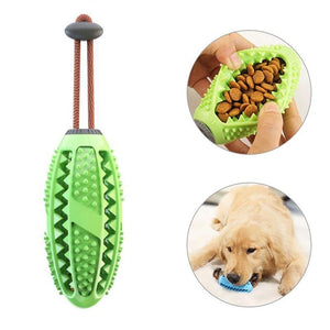 Dog Interactive Natural Rubber Ball Puppy Chew Toy Food Dispenser Ball Bite-Resistant Clean Teeth Pet Playing Balls Pet Dog Toys - SaturnLoop Shops Sales