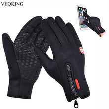 Load image into Gallery viewer, Touch Screen Windproof Outdoor Sport Gloves,Men Women Winter Fleece Thermal Warm Running Gloves,Anti-slip Cycling Gloves - SaturnLoop Shops Sales