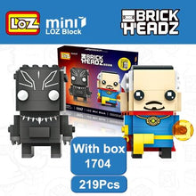 Load image into Gallery viewer, LOZ Doctor Strange and Black Panther T'Challa Wakanda Mini Blocks Brick Heads Action Figure Brinquedos Toy 6+Age 219PCS 1704 - SaturnLoop Shops Sales
