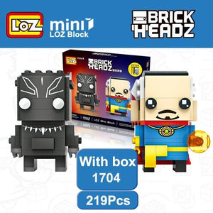 LOZ Doctor Strange and Black Panther T'Challa Wakanda Mini Blocks Brick Heads Action Figure Brinquedos Toy 6+Age 219PCS 1704 - SaturnLoop Shops Sales