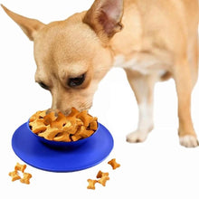Load image into Gallery viewer, Silicone suction bowl mat non-slip pet bowl non-slip collapsible dog bowl mat and sucker feet silicone food caps 30D6 - SaturnLoop Shops Sales