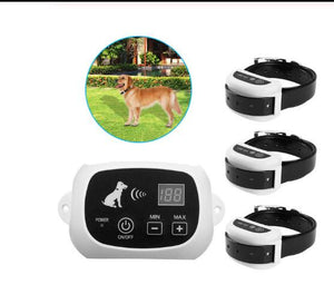 Wireless Electric Dog Pet Fence Containment System Transmitter Collar Waterproof LCD Display Dog Fence Safety Pet Supplies - SaturnLoop Shops Sales