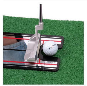 Golf Swing Straight Practice Golf Putting Mirror Alignment Training Aid Swing Trainer Eye Line Golf Accessories 32 x 14.5cm - SaturnLoop Shops Sales