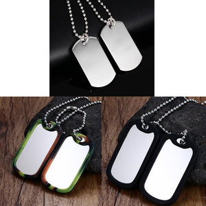 VNOX Double Dog Tag Necklace Pendant Men Jewelry - SaturnLoop Shops Sales