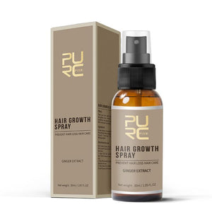 Purc 30ml Hair Growth Spray Natural Ginger Essence Spray Effective Extract Anti Hair Loss Nourish Root Hair Care Treatment - SaturnLoop Shops Sales