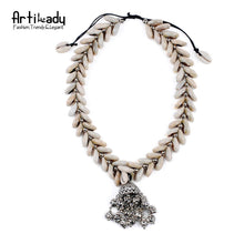 Load image into Gallery viewer, Artilady natural shells pendant necklace set - SaturnLoop Shops Sales