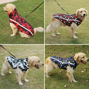 Dog Jacket Large Breed Dog Coat Waterproof Reflective Warm Winter Clothes for Big Dogs - SaturnLoop Shops Sales