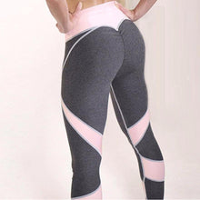 Load image into Gallery viewer, Women Solid Patchwork Training Gym Legging Running Fitness Leggings Waist Breathable Yoga Elastic Sport Pants High Leggings - SaturnLoop Shops Sales