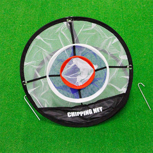 GOG Golf Pop UP Indoor Outdoor Chipping Pitching Cages Mats Practice Easy Net Golf Training Aids Metal + Net - SaturnLoop Shops Sales