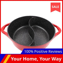 Load image into Gallery viewer, Master Star Granite Coating Sauce Pot Chinese Hot Pot 6.5L Deep Double-Flavor Pot High Quality Thick Non-stick Induction Cooker - SaturnLoop Shops Sales