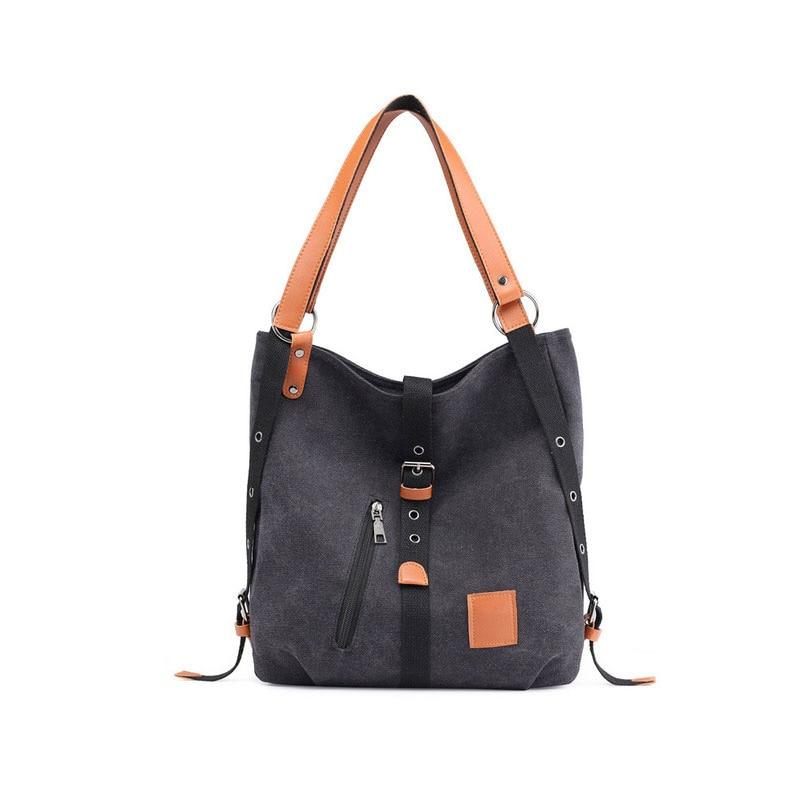 Canvas Women Shoulder Bags High Quality Multifunction Women Back Pack For Students School Travel Bags Large Capacity - SaturnLoop Shops Sales