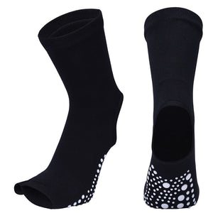Two Toe Yoga Socks Silicone Non Slip Quick-Dry Pilates Sock Foot Heel Cotton Ventilation Ballet Dance Sock