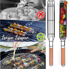 Load image into Gallery viewer, Portable BBQ Grilling Basket Stainless Steel Nonstick Barbecue Grill Basket Tools Mesh  Kitchen Tools kitchen accessories#30 - SaturnLoop Shops Sales