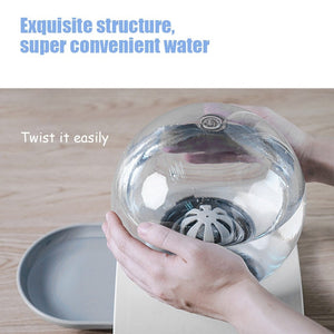 2.8L Pet Cat Bubble Automatic Water Feeder Fountain For Pets Water Dispenser Large Drinking Bowl Cat Drink No Electricity NEW - SaturnLoop Shops Sales
