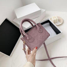 Load image into Gallery viewer, Classic Texture Vintage Alligator Leather Shoulder Bags Delicate Creative Design Women Pure Small Totes Crossbody Handbag - SaturnLoop Shops Sales