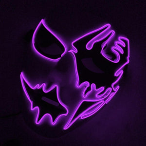 New Easter Halloween Led Luminous Rave Mask Terror EL Wire Haunted House Christmas Carnival Party Club Bar DJ lighting Mask - SaturnLoop Shops Sales
