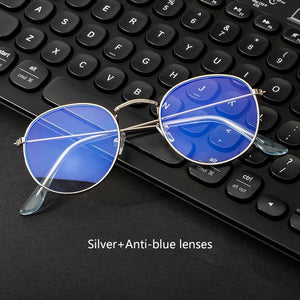Computer Glasses Anti Blue Ray Glasses Blue Light Blocking Glasses Optical Eye Spectacle UV Blocking Gaming Filter Round Glasses - SaturnLoop Shops Sales