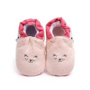 Cartoon Fox Baby Girls Winter Warm First Walkers Cotton Children Home Shoes Kids Toddler Slippers Baby First Walkers Moccasins - SaturnLoop Shops Sales