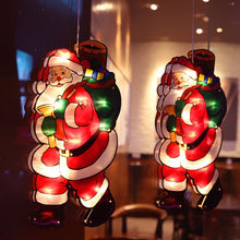 Load image into Gallery viewer, Santa Claus Led Suction Cup Window Hanging Lights Christmas Decorative Atmosphere Scene Decor Festive Decorative Lights