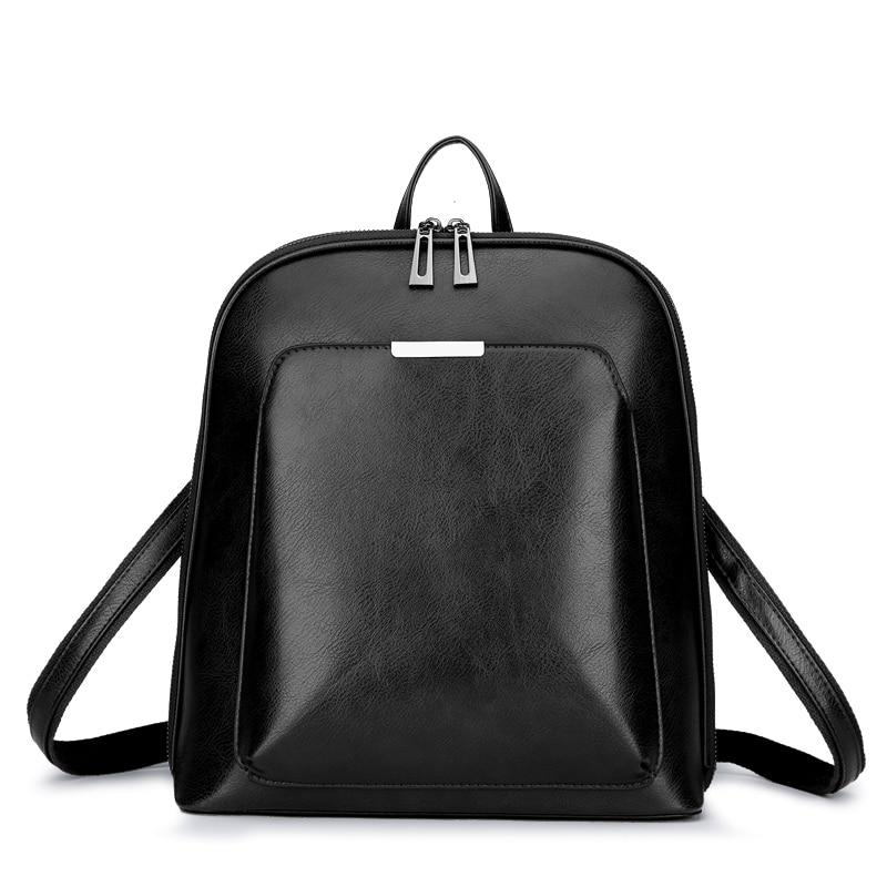 Women Backpack high quality PU Leather  Fashion Backpacks Female Feminine Casual Large Capacity Vintage Shoulder Bags - SaturnLoop Shops Sales