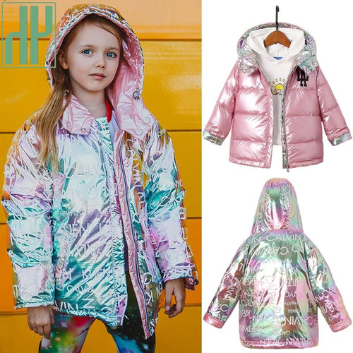 Children New Fashion Winter Jacket For Girls Warm Hooded Coat 90% Duck Down Double-sided Jackets Coats For Boys Kids Parkas - SaturnLoop Shops Sales