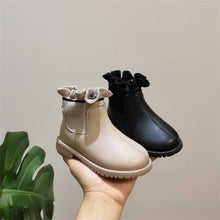 Load image into Gallery viewer, Winter New Girls Boots Toddler Shoes Leather Ruffle Zip WaterProof Kids Boots Fashion Little Baby Shoes 0-3 years - SaturnLoop Shops Sales