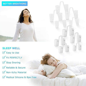 8PCS /set Snoring Solution Anti Snoring Devices Professional Snore Stopper Nose Vents Snore Nasal Dilators For Better Sleep - SaturnLoop Shops Sales